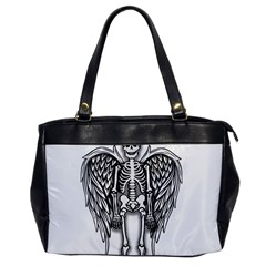 Angel Skeleton Office Handbags by Valentinaart