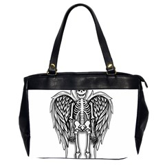 Angel Skeleton Office Handbags (2 Sides)  by Valentinaart