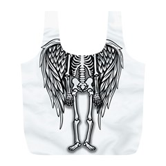Angel Skeleton Full Print Recycle Bags (l)  by Valentinaart