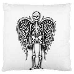 Angel Skeleton Large Flano Cushion Case (two Sides) by Valentinaart