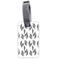Feather Pattern Luggage Tags (two Sides) by Valentinaart