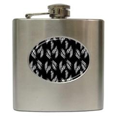 Feather Pattern Hip Flask (6 Oz) by Valentinaart