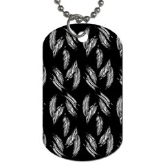 Feather Pattern Dog Tag (two Sides) by Valentinaart