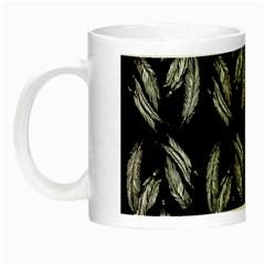 Feather Pattern Night Luminous Mugs by Valentinaart