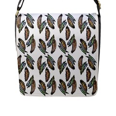 Feather Pattern Flap Messenger Bag (l)  by Valentinaart