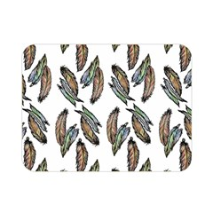 Feather Pattern Double Sided Flano Blanket (mini)  by Valentinaart