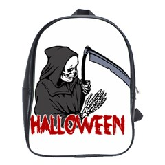 Death   Halloween School Bag (large) by Valentinaart