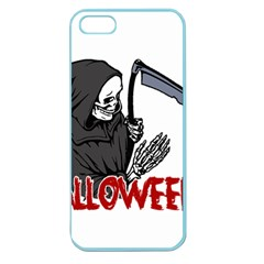 Death   Halloween Apple Seamless Iphone 5 Case (color) by Valentinaart