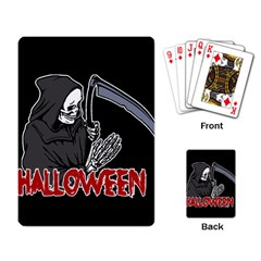 Death   Halloween Playing Card by Valentinaart