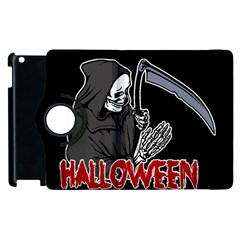 Death   Halloween Apple Ipad 3/4 Flip 360 Case by Valentinaart