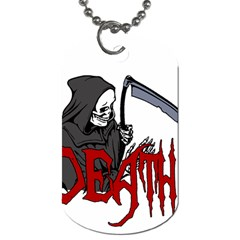 Death   Halloween Dog Tag (two Sides) by Valentinaart