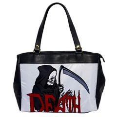Death   Halloween Office Handbags by Valentinaart