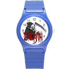 Death   Halloween Round Plastic Sport Watch (s) by Valentinaart