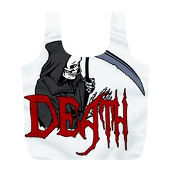 Death   Halloween Full Print Recycle Bags (l)  by Valentinaart
