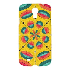 Textured Tropical Mandala Samsung Galaxy S4 I9500/i9505 Hardshell Case by linceazul