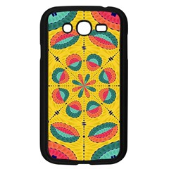 Textured Tropical Mandala Samsung Galaxy Grand Duos I9082 Case (black) by linceazul