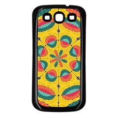 Textured Tropical Mandala Samsung Galaxy S3 Back Case (black) by linceazul