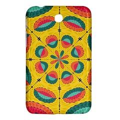 Textured Tropical Mandala Samsung Galaxy Tab 3 (7 ) P3200 Hardshell Case  by linceazul