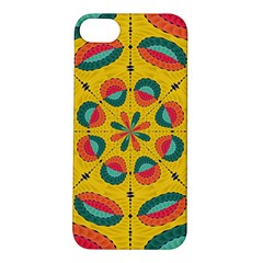 Textured Tropical Mandala Apple Iphone 5s/ Se Hardshell Case by linceazul