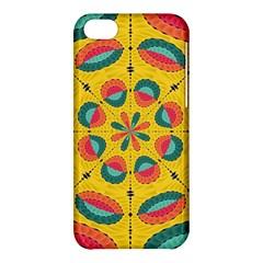 Textured Tropical Mandala Apple Iphone 5c Hardshell Case by linceazul