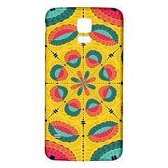 Textured Tropical Mandala Samsung Galaxy S5 Back Case (white) by linceazul