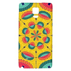Textured Tropical Mandala Galaxy Note 4 Back Case by linceazul
