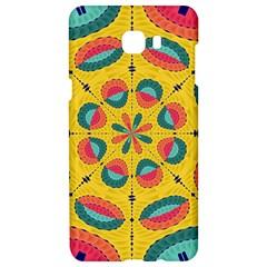 Textured Tropical Mandala Samsung C9 Pro Hardshell Case  by linceazul