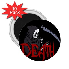Death   Halloween 2 25  Magnets (10 Pack)  by Valentinaart