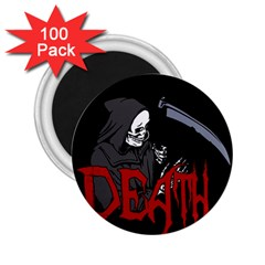 Death   Halloween 2 25  Magnets (100 Pack)  by Valentinaart