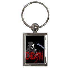 Death   Halloween Key Chains (rectangle)  by Valentinaart