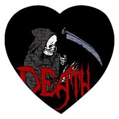 Death   Halloween Jigsaw Puzzle (heart) by Valentinaart