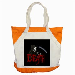 Death   Halloween Accent Tote Bag by Valentinaart