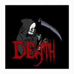 Death   Halloween Medium Glasses Cloth (2 Side) by Valentinaart