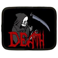 Death   Halloween Netbook Case (xxl)  by Valentinaart