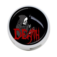 Death   Halloween 4 Port Usb Hub (two Sides)  by Valentinaart