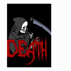 Death   Halloween Small Garden Flag (two Sides) by Valentinaart