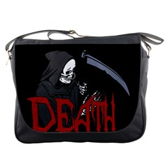 Death   Halloween Messenger Bags by Valentinaart