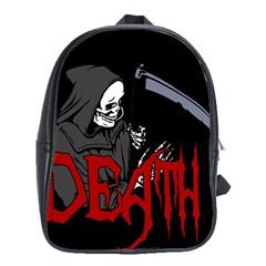 Death   Halloween School Bag (xl) by Valentinaart