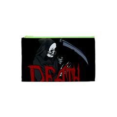 Death   Halloween Cosmetic Bag (xs) by Valentinaart