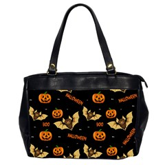 Bat, Pumpkin And Spider Pattern Office Handbags (2 Sides)  by Valentinaart