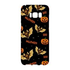 Bat, Pumpkin And Spider Pattern Samsung Galaxy S8 Hardshell Case  by Valentinaart