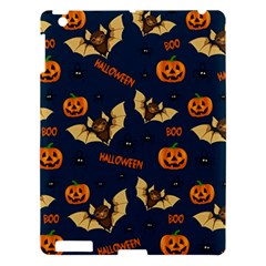 Bat, Pumpkin And Spider Pattern Apple Ipad 3/4 Hardshell Case by Valentinaart