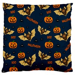 Bat, Pumpkin And Spider Pattern Large Cushion Case (one Side) by Valentinaart