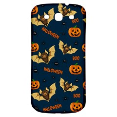 Bat, Pumpkin And Spider Pattern Samsung Galaxy S3 S Iii Classic Hardshell Back Case by Valentinaart