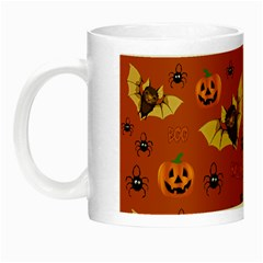 Bat, Pumpkin And Spider Pattern Night Luminous Mugs by Valentinaart