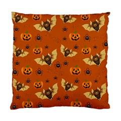 Bat, Pumpkin And Spider Pattern Standard Cushion Case (one Side) by Valentinaart