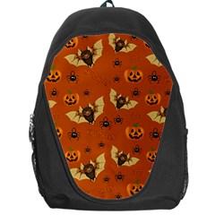 Bat, Pumpkin And Spider Pattern Backpack Bag by Valentinaart