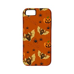 Bat, Pumpkin And Spider Pattern Apple Iphone 5 Classic Hardshell Case (pc+silicone) by Valentinaart