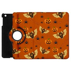 Bat, Pumpkin And Spider Pattern Apple Ipad Mini Flip 360 Case by Valentinaart