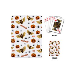 Bat, Pumpkin And Spider Pattern Playing Cards (mini)  by Valentinaart
